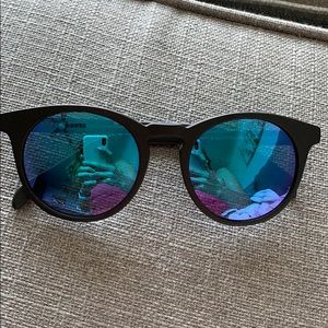 Diff - black frames with blue mirror lenses